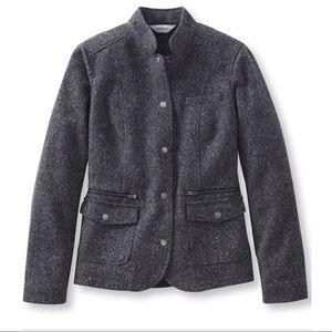LL Bean Stonington Herringbone Jacket